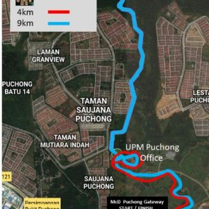 Ayer Hitam Forest Run - Map